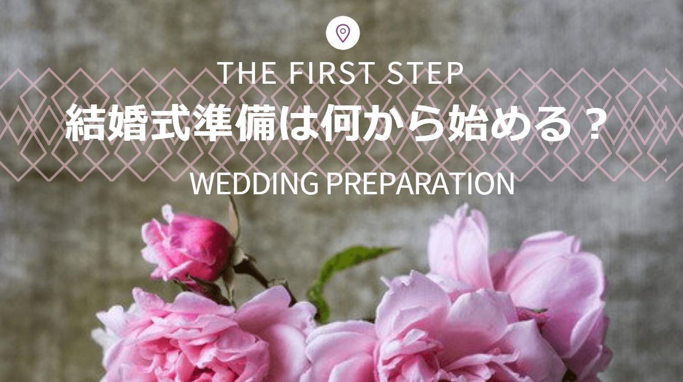 結婚式準備の始め方