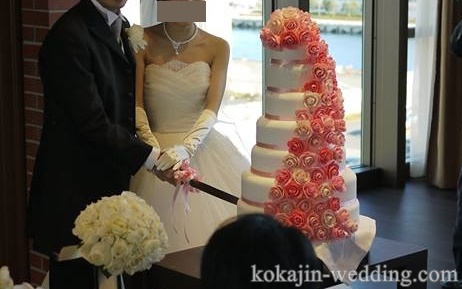 シュガークラフトのウェディングケーキ